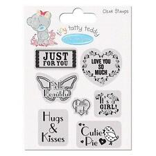 LOT 7 TAMPONS TRANSPARENTS CLEAR STAMP NAISSANCE FILLE SCRAPBOOKING IT'S A GIRL