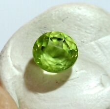 Péridot 5x5mm VIDEO pierre naturelle facette stone round olivine 0.60 carat