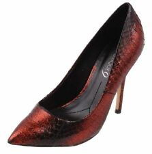 Boutique 9 by Nine West Sally Womens Dark Red/Black Leather High Heels size 7.5