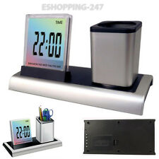 Date Desktop Temperature Office Supplies Digital Music Alarm Clock LCD Time A168