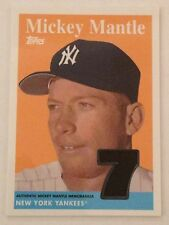 Mickey Mantle 2008 Topps Memorabilia Swatch Card Yankees FREE SHIP
