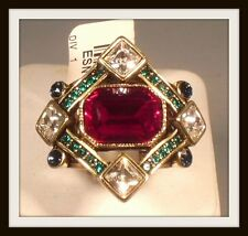 "HEIDI DAUS ""MANY SHADES OF FABULOUS"" CRYSTAL RING - SIZE 6 - HSN"