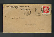 1941 Jersey Channel Islands Occupation Cover England Local Use Victoria House
