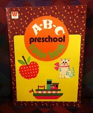 ABC Preschool beat-up coloring book 1978 alphabet Whitman
