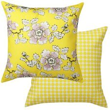 WEDGWOOD Bloom Lemon Floral Square Filled Lounge Cushion 50 x 50cm
