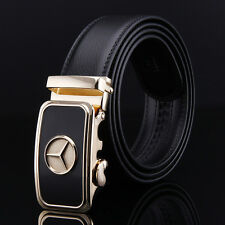 110CM Mens Belts LOGO Automatic Belt Buckle Black Casual Genuine Leather Belts