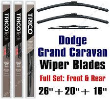 """Dodge Grand Caravan 2010-2016 Wiper Blades 3-Pk 26""""+20""""+16"""" - 19260/19200/30160"""