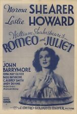 ROMEO AND JULIET Movie POSTER 27x40 B Leslie Howard Norma Shearer John Barrymore