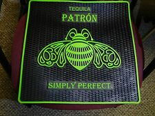 "TEQUILA PATRON SIMPLY PERFECT 17"" X 17"" RUBBER BAR MAT NEW"