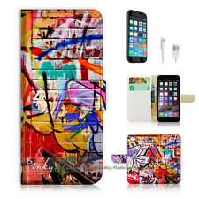 "iPhone 6 Plus (5.5"") Print Flip Wallet Case Cover! Cool Graffiti P0130"
