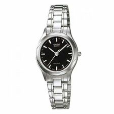 Casio LTP1275D-1A Ladies Stainless Steel Analog Casual Dress Watch Black Dial