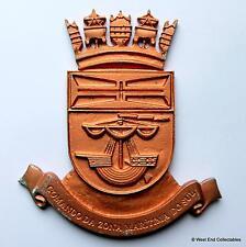 Comando zona maritima do sul faro-old marine portugaise tampion plaque badge Crest