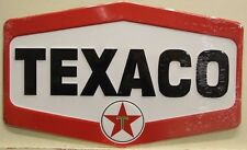 TEXACO Gasoline & Oil Metal Sign die cut embossed Logo larger sign