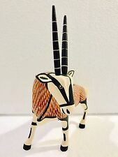 Oryx Wood Carving Alebrije Sculpture Oaxaca Mexican Art Collection