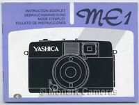 Yashica ME1 35mm Compact Camera Manual, More Guides & Instruction Books Listed