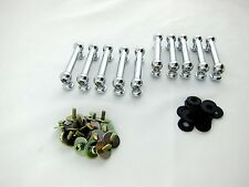 10 Double End Drum Lugs Tube Lugs with Mounting Screws - 50.8mm- Chrome on Brass