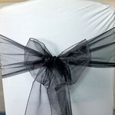 100 Organza Chair Sashes Chair Cover Bows & 10 Table Runner for Sale UK