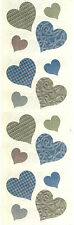 Mrs. Grossman's Stickers - Embellished Hearts - Victorian Heart - 4 Strips