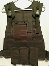 Fox Outdoor Plate Carrier Vest OD Olive Drab Modular Military Survival Tactical