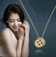 Fashion Women Jewelry Pinocchio Necklace Korean Drama Shinhye Lucky Buttons New