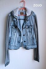 WOMEN'S AMERICAN EAGLE DENIM HOODIE JACKET, SIZE XS