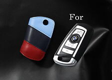 Handmade Premium Italy Leather Smart Remote car Key case For BMW M Fob Holder