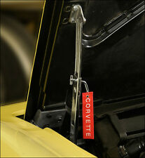 Corvette 1953 - 1971 Hood Support Latch Pin with Embroidered Corvette Pendant