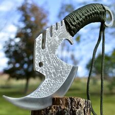 "11"" TACTICAL HUNTING Viking Throwing AXE TOMAHAWK Hawk Hatchet w/ SHEATH"