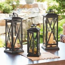 Better Homes and Gardens Large Crossbar Metal Outdoor Lantern