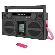 iHome IP4GZ FM 30-Pin Speaker Dock Boombox  Gunmetal - Accessory Color Will