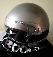CASCO ROOF FEVER ALLUMINIO METAL TG.M MOTORCYCLE SCOOTER HELMET
