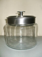 Clear Glass Apothecary Jar Canister w/ Stainless Steel Lid!