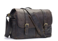 ONA The Brixton - Italian Leather Laptop Messenger Camera Bag - DARK TRUFFLE