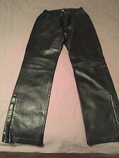 Authentic Dolce and Gabbana Leather Pants. Men's, EUR 48.