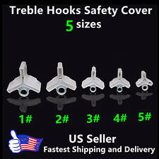 250 pcs Fishing Treble Hooks Safty Protector Cover --5 different size
