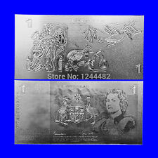 BANKNOTE OLD AUD $1 AUSTRALIAN DOLLAR REPLICA SILVER HIGH QUALITY!