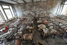 Framed Print - Inside a Bedroom of a Chernobyl Nursery (Gothic Picture Photo)