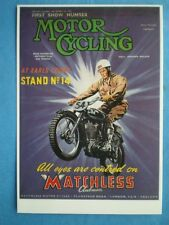 POSTCARD MATCHLESS MOTOR CYCLE