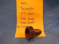 Triumph 57-1947 Main Shaft 4th Gear Tri 500 NOS  NP633