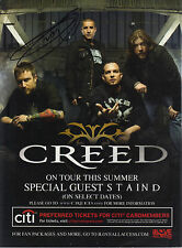 "MARK TREMONTI - SIGNED ""CREED"" BAND TOUR AD - ALTER BRIDGE - CREED - FREE UK P&P"