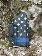 Kydex IWB holster for Glock 42 - U.S. Flag / Blue Line - InvisiHolsters