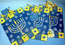 Jewish Holiday Gift Bags Hanukkah Menorah Design by Giftco Lot of 3
