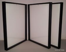 3 JERSEY Display Cases and Hangers Frame Football Baseball Basketball White Box