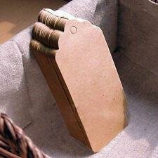 Pack of Gift Tags Wedding Scallop Label Brown Blank Luggage Kraft