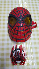 MARVEL SPIDERMAN HELMET MASK AND T SHIRT LOGO BADGE WITH SOUND EFFECTS