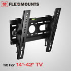 Slim LED LCD Tilt TV Wall Mount Bracket 14 17 19 20 24 26 27 32 37 40 42