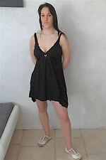 dress robe coton viscose noir HIGH USE taille M  NEUVE ÉTIQUETTE val. 380€
