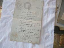 document signé Mallarmé Auguste Président de la cenvention