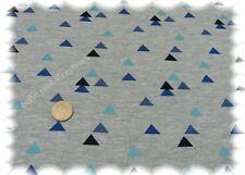 Sweat Geometric grau blau Sweatshirt Sommersweat Sweaty 50 cm Jogging