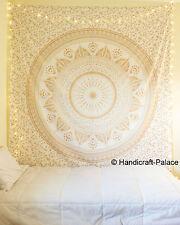 Große Hippie-Mandala Tapisserie Golden Ombre Wand Doppelbettdecke Werfen Hängen